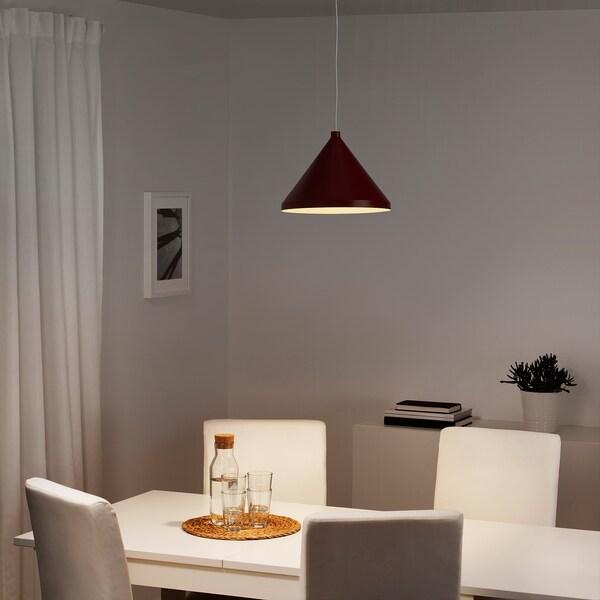 NÄVLINGE Lampada a sospensione, rosso scuro, 33 cm