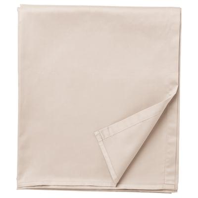 NATTJASMIN Lenzuolo, beige chiaro, 240x260 cm