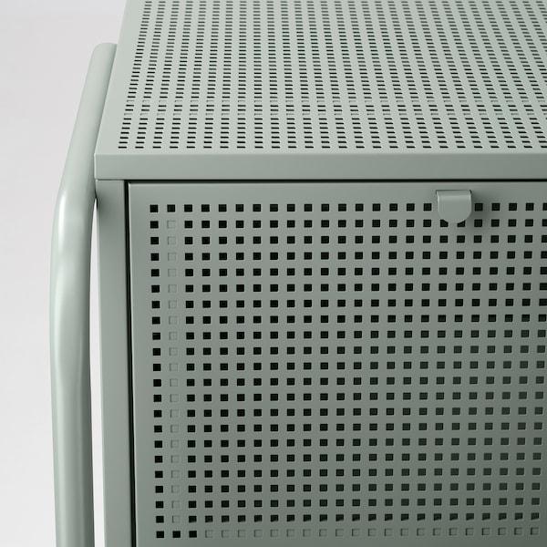 NIKKEBY Cassettiera con 4 cassetti, grigio-verde, 84x70 cm