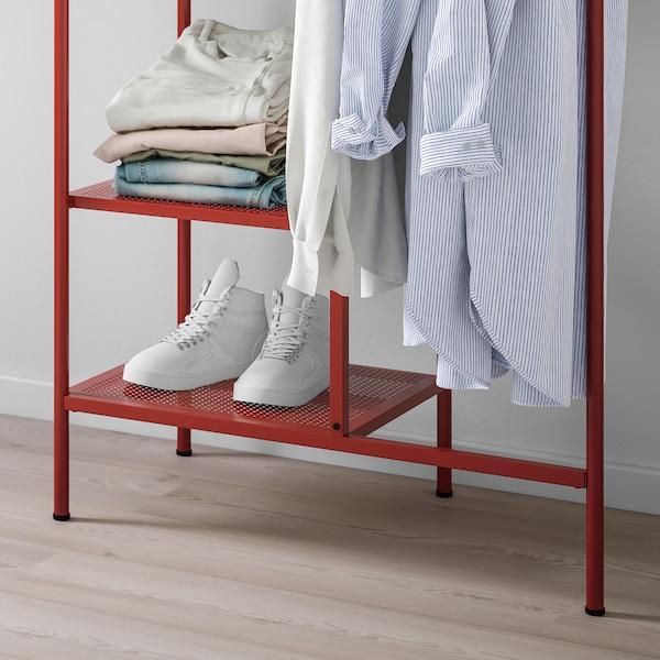 NIKKEBY Stand appendiabiti, rosso, 80x170 cm