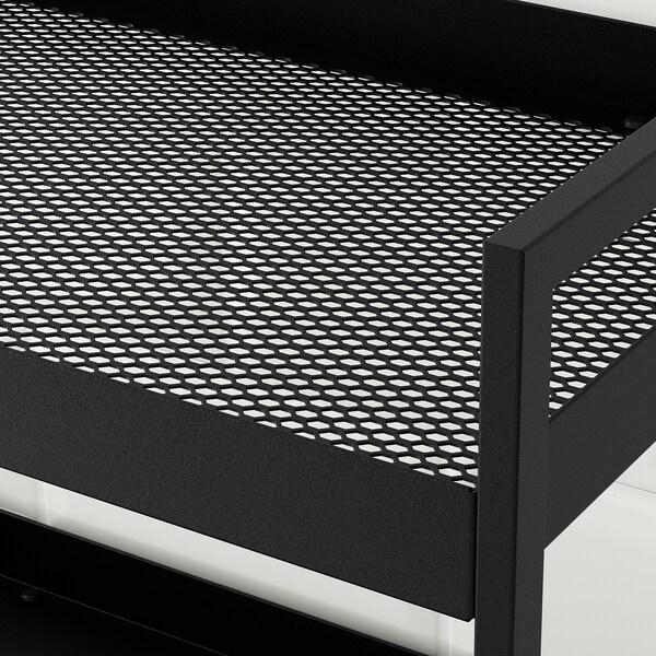 NISSAFORS Carrello, nero, 50.5x30x83 cm