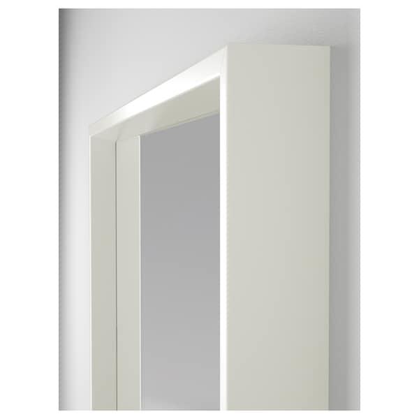 NISSEDAL Specchio, bianco, 65x65 cm