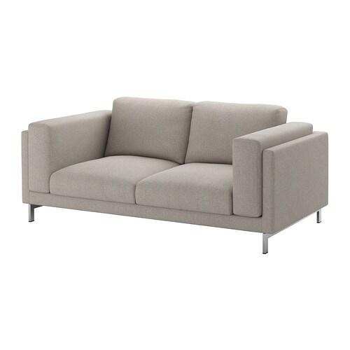 NOCKEBY Divano a 2 posti - Tenö grigio chiaro, cromato - IKEA