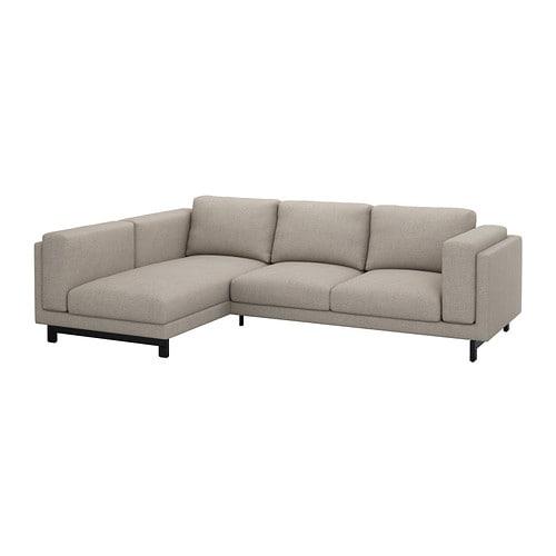 Nockeby divano 2 posti chaise longue sx con chaise longue sinistra ten grigio chiaro con - Divano chaise longue ikea ...