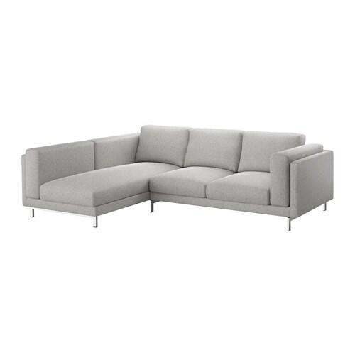 Nockeby fodera divano 2 posti chaise longue sinistro tallmyra bianco nero ikea - Fodera divano con chaise longue ...