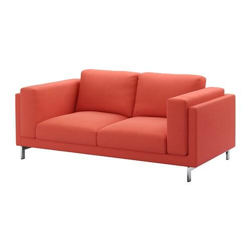 NOCKEBY Fodera per divano a 2 posti - Risane arancione - IKEA