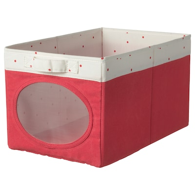 NÖJSAM Contenitore, rosso chiaro, 25x37x22 cm