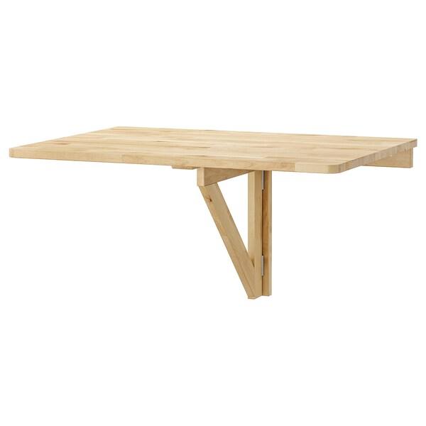 Ikea Tavolo A Scomparsa.Norbo Tavolo Ribaltabile Da Parete Betulla Ikea