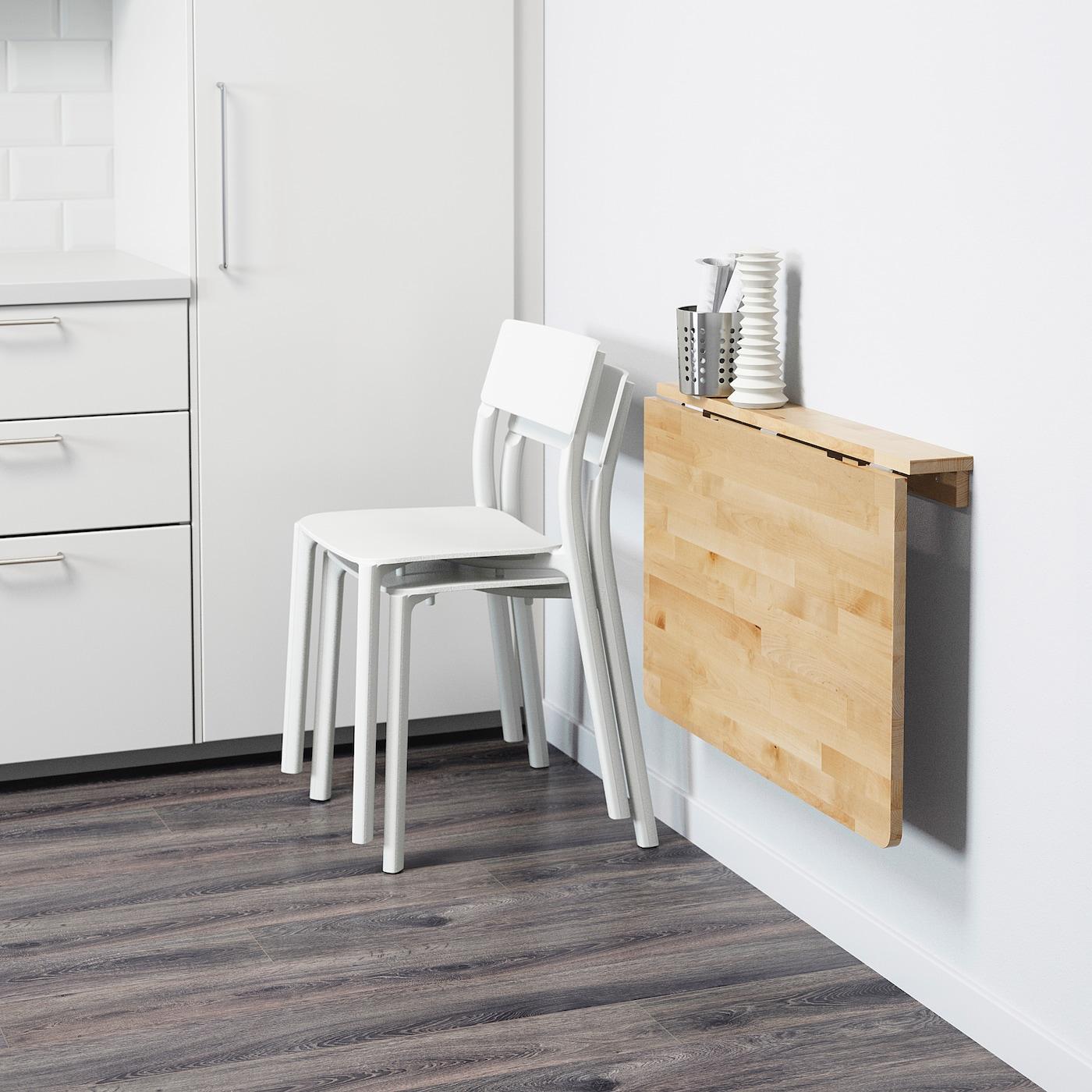 Tavoli Pieghevoli Ikea Muro.Norbo Tavolo Ribaltabile Da Parete Betulla Ikea