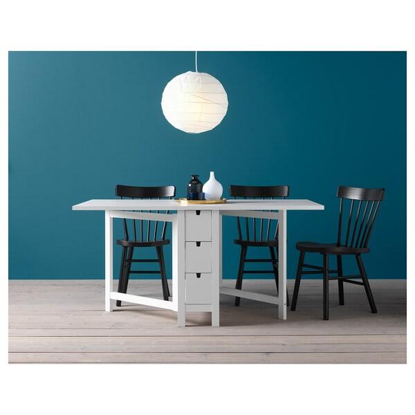 Tavolo Pieghevole Ikea Con Sedie.Norden Tavolo A Ribalta Bianco Ikea