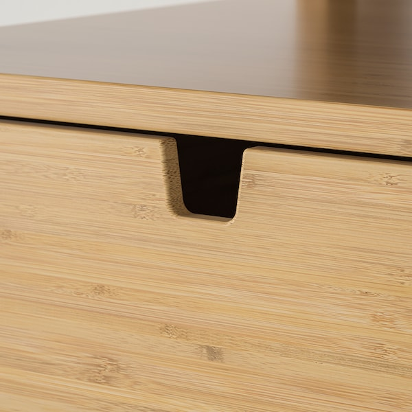 NORDKISA Comodino, bambù, 60x40 cm