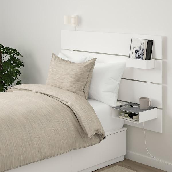 Cuscini Per Testata Letto Matrimoniale Ikea.Nordli Struttura Letto Contenitore Testier Bianco 90x200 Cm Ikea