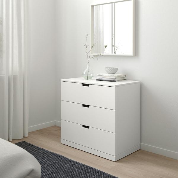 NORDLI Cassettiera con 3 cassetti, bianco, 80x76 cm