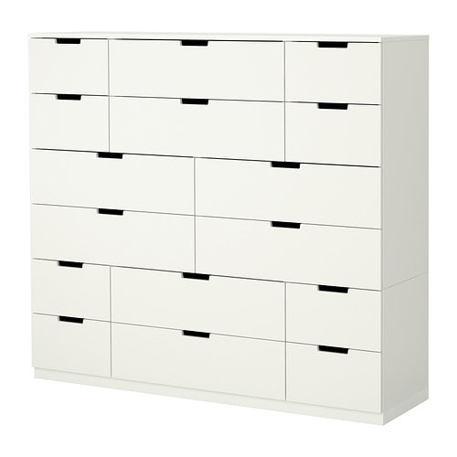 nordli cassettiera con 16 cassetti ikea. Black Bedroom Furniture Sets. Home Design Ideas