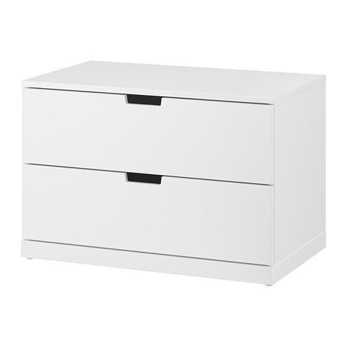 Nordli cassettiera con 2 cassetti bianco ikea - Fasciatoio cassettiera ikea ...