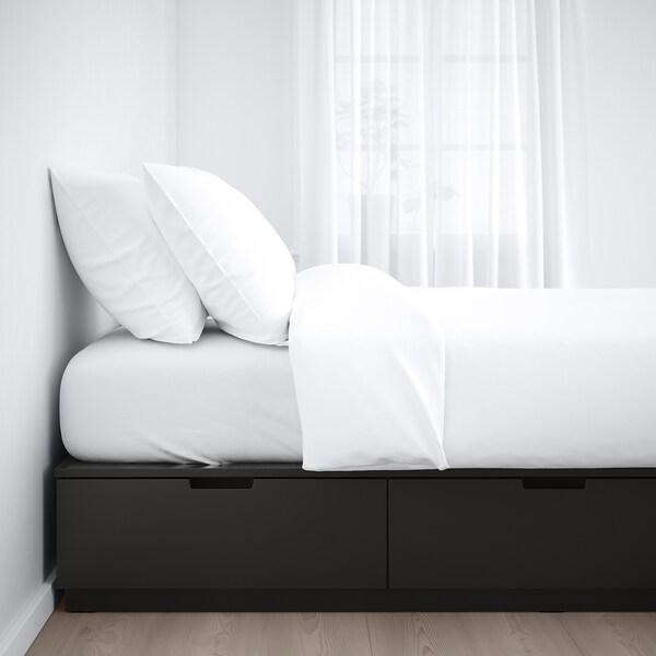 NORDLI Struttura letto con cassetti, antracite, 90x200 cm