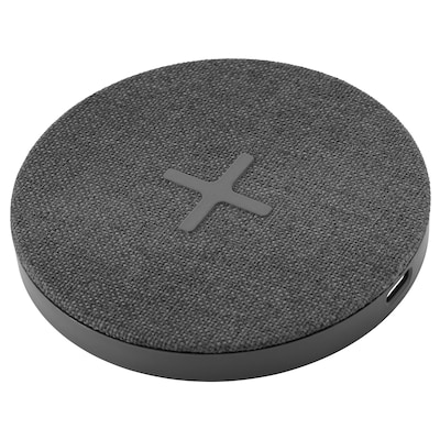 NORDMÄRKE Caricabatteria wireless, tessuto/grigio