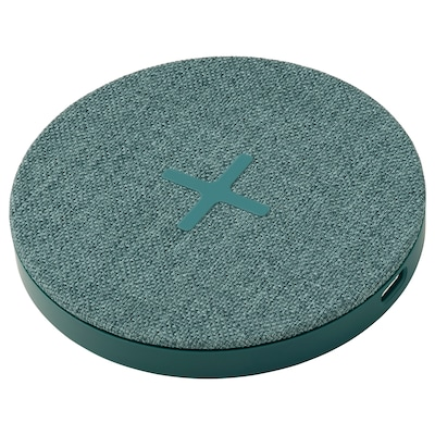 NORDMÄRKE Caricabatteria wireless, tessuto/verde