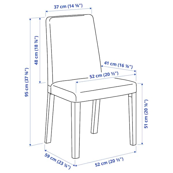 NORDVIKEN / BERGMUND Tavolo e 4 sedie, bianco/Inseros bianco, 152/223 cm