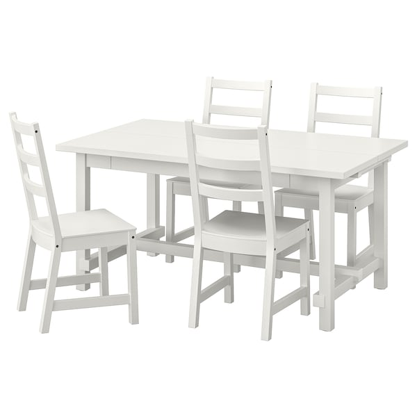 Tavoli Allungabili E Sedie In Coordinato.Nordviken Nordviken Tavolo E 4 Sedie Bianco Bianco Ikea
