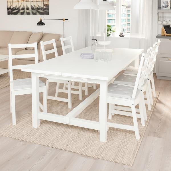 NORDVIKEN NORDVIKEN Tavolo e 6 sedie, bianco, bianco IKEA