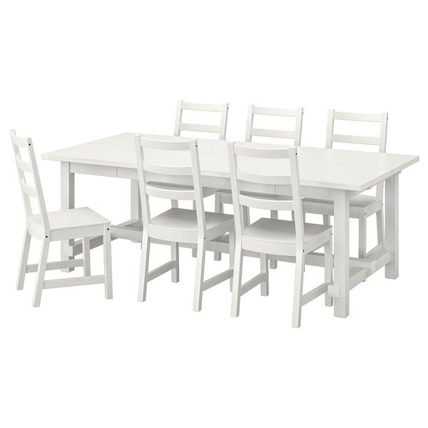 Nordviken Nordviken Tavolo E 6 Sedie Bianco Bianco Ikea It