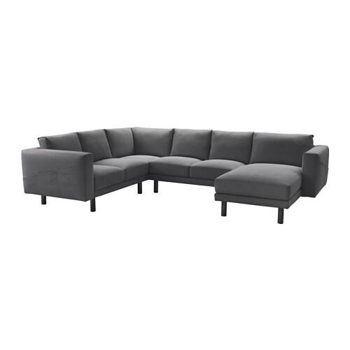 Norsborg divano angolare 2 2 e chaise longue finnsta grigio scuro grigio ikea - Ikea divano chaise longue ...