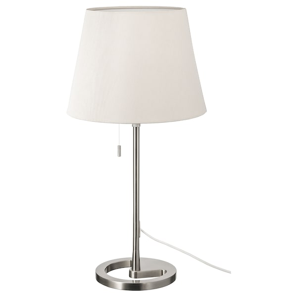 Nyfors Lampada Da Tavolo Nichelato Bianco Ikea It