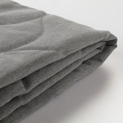 NYHAMN Fodera per divano letto a 3 posti, Knisa grigio/beige