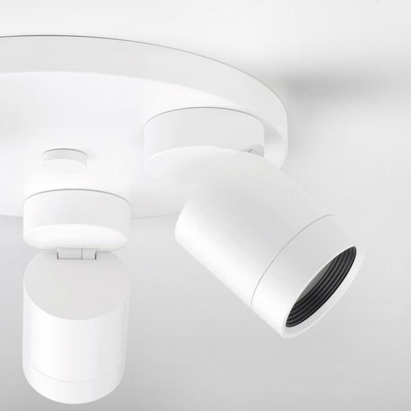 NYMÅNE Faretto da soffitto a 3 luci, bianco