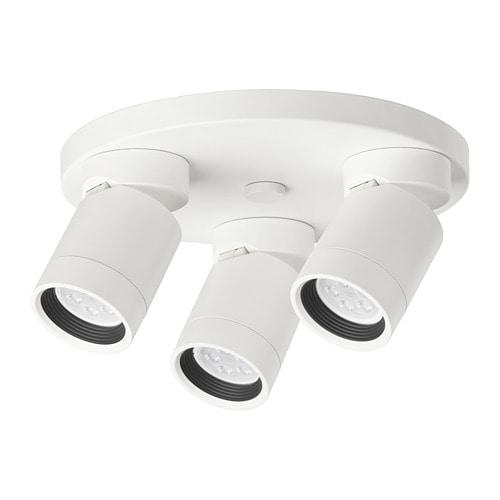 Nym ne faretto da soffitto a 3 luci ikea for Ikea lampade da scrivania