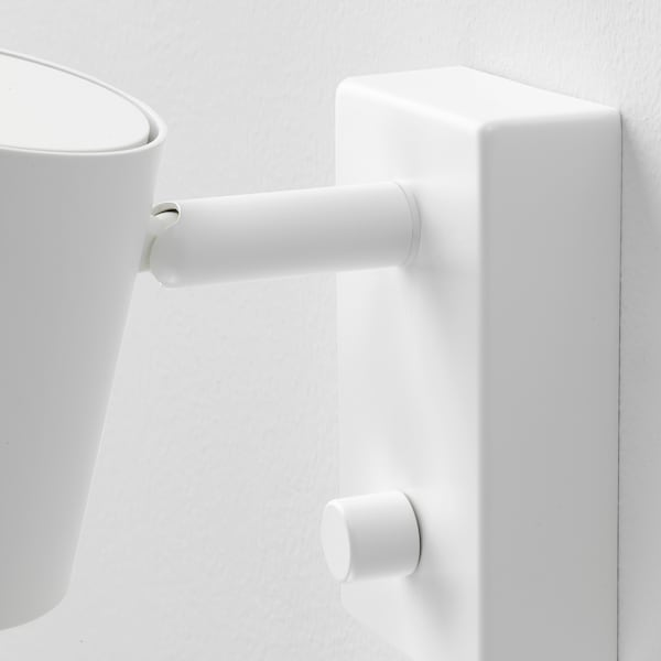 NYMÅNE Lampada parete/lettura inst fissa, bianco
