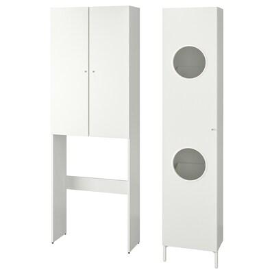 NYSJÖN Combinazione per lavanderia, bianco, 105x32x190 cm