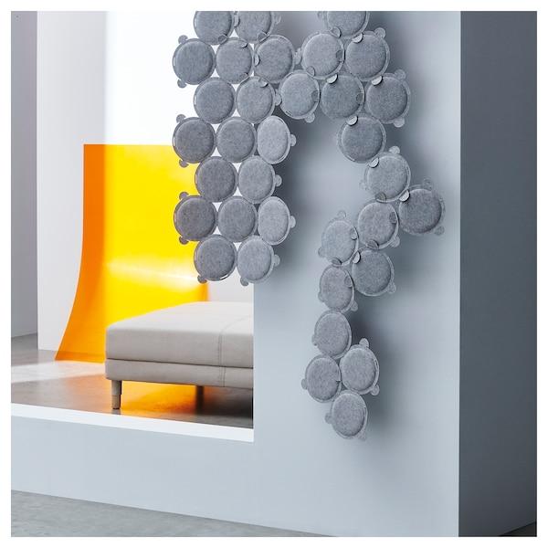 ODDLAUG pannello fonoassorbente grigio 100 cm 50 cm 17 cm 1.5 cm 0.60 kg 15 pezzi