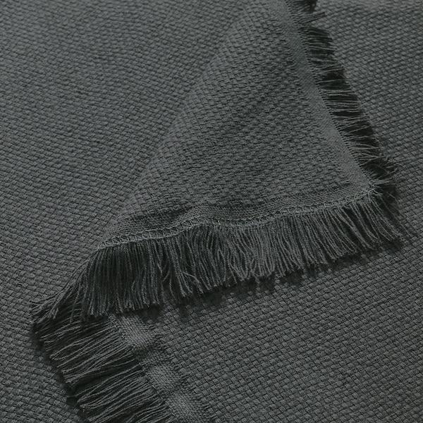 ODDRUN Plaid, grigio, 130x170 cm