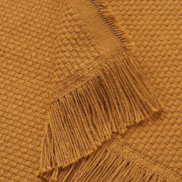 ODDRUN Plaid, ocra bruna scuro, 130x170 cm