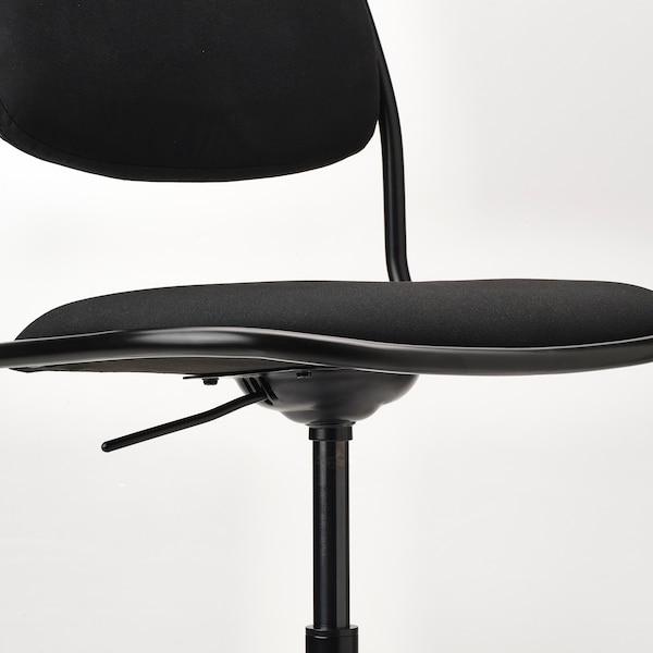 ÖRFJÄLL Sedia girevole, nero/Vissle nero