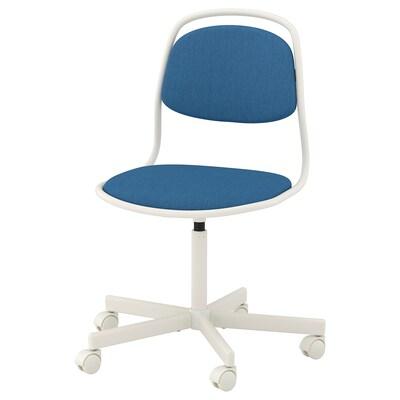 ÖRFJÄLL sedia girevole bianco/Vissle blu 110 kg 68 cm 68 cm 94 cm 49 cm 43 cm 46 cm 58 cm