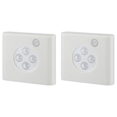 OLEBY Illuminazione guardaroba/sensore, bianco, 2 pezzi