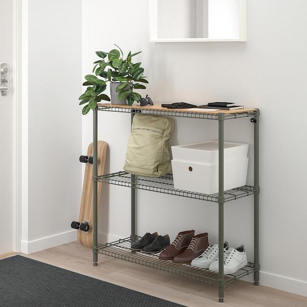 OMAR 1 sezione, grigio-verde bambù, 92x36x94 cm