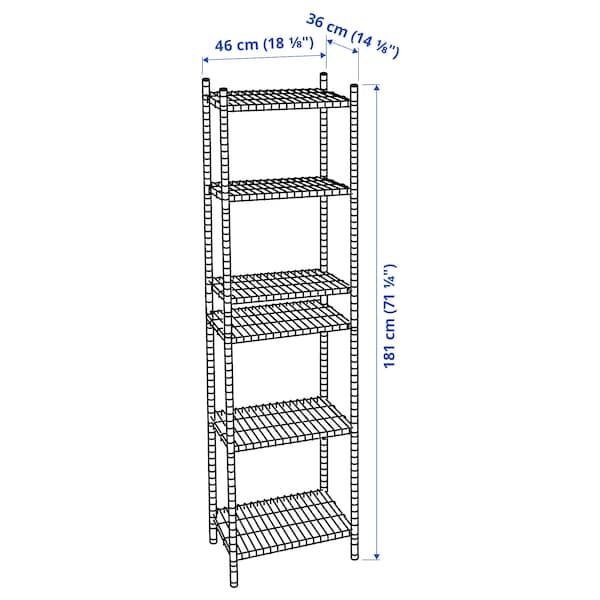 OMAR 1 sezione, 46x36x181 cm