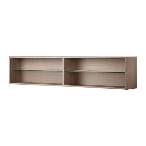 Orrberg scaffale con ripiano in vetro grigio chiaro ikea for Ikea contenitori vetro