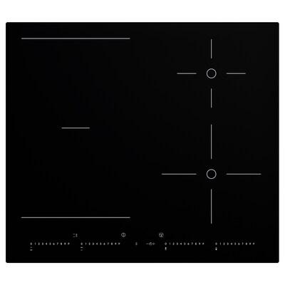OTROLIG Piano cottura induzion/zone flessib, nero, 58 cm