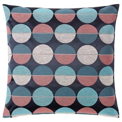 OTTIL Fodera per cuscino, blu/rosa, 50x50 cm