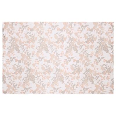 OTYGLAD Tovaglia, foglia grigio/beige, 145x320 cm