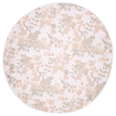 OTYGLAD Tovaglia, foglia grigio/beige, 150 cm