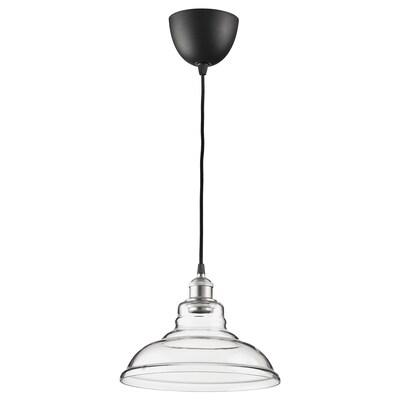 OVANBY Lampada a sospensione, trasparente vetro, 30 cm