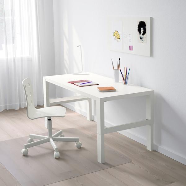 PÅHL Scrivania, bianco, 128x58 cm