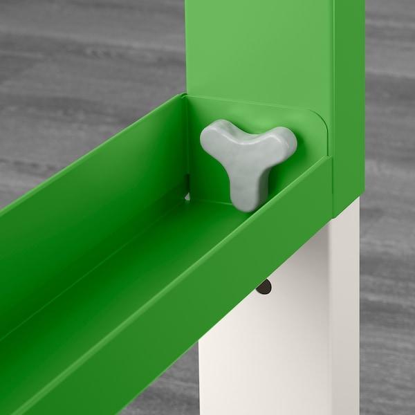 PÅHL Scrivania con scaffale, bianco/verde, 96x58 cm