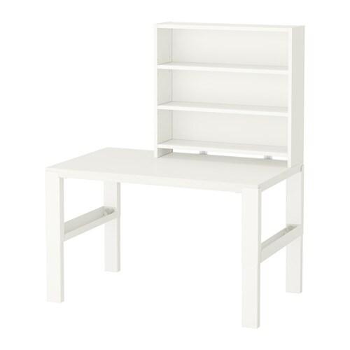 P hl scrivania con scaffale bianco ikea for Scrivania con libreria ikea
